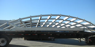 Metallized Structure on Trailer Bed